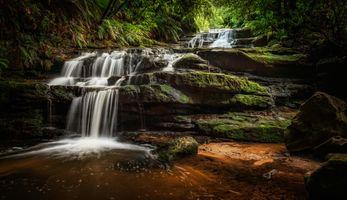 Заставки водопад, скалы, река