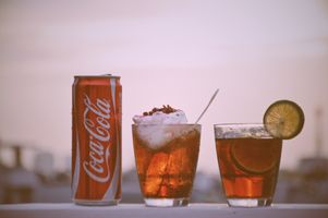 Фото бесплатно напиток, кока-кола, стакан