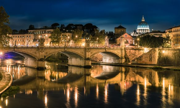 Photo free Rome, the bridge Vittorio, Italy