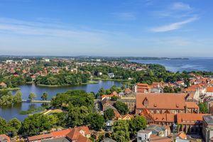 Заставки Stralsund,Штральзунд,Германия,дома,мосты,река,город