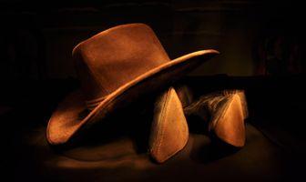Заставки ковбойская шляпа, ковбойские сапоги, легкий
