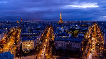 Photo free city, night, Paris