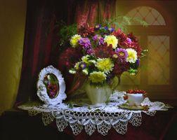 Photo free background, still life, bouquet