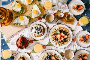 Photo free breakfast, fruit, berries