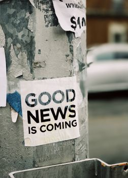 Photo free the good news, sticker, sign