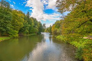 Фото бесплатно Парк, усадьба, осенние листья