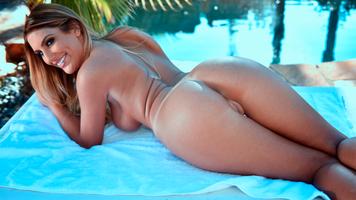 Бесплатные фото Август Эймс,задница,киска,улыбка,4К,загорелый,загар линий