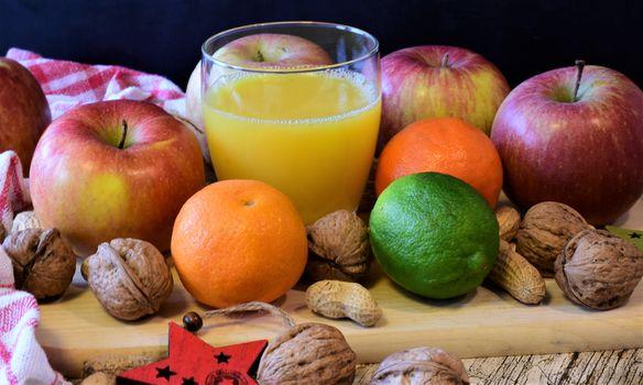 Заставки фрукты, яблоко, мандарины