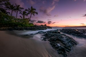 Бесплатные фото Makena Cove,Maui,Kauai,море океан,закат,сумерки,пальмы