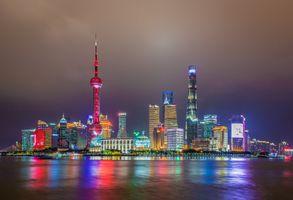 Photo free Shanghai, China, city