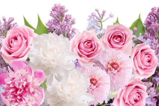 Заставки сирень пионы, цветы, розы