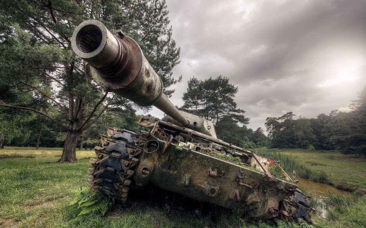Фото бесплатно танк, грязь, трава - на рабочий стол