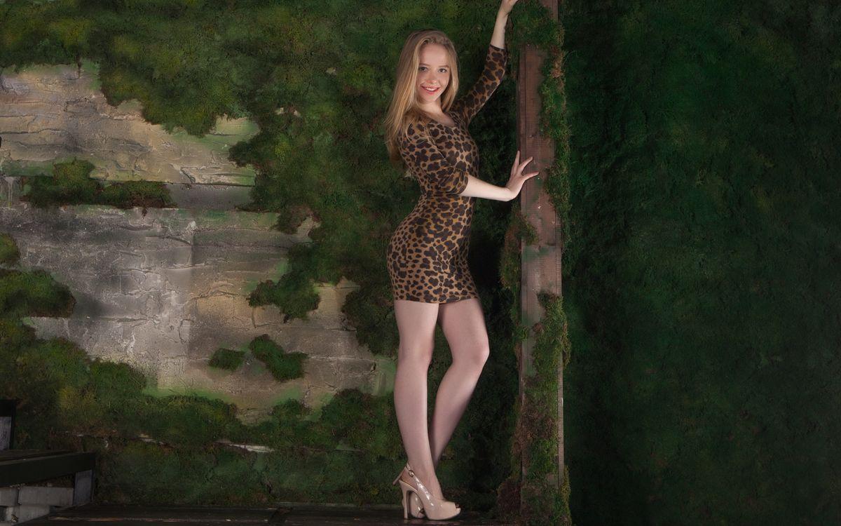 Фото бесплатно Лола Чик, очаровательны, мило в платье - на рабочий стол