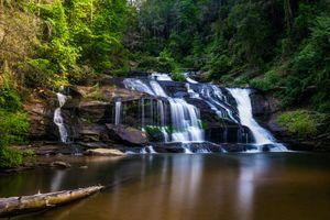 Бесплатные фото Panther Creek Falls,North Georgia,водопад,водоём,скалы,лес,деревья