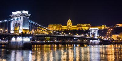Заставки Будапешт,Дунай,Венгрия,ночь,иллюминация,ночные города,панорама
