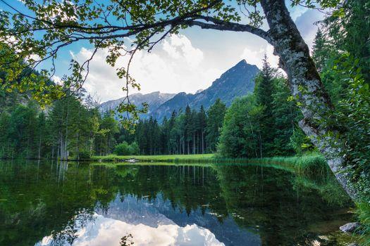 Фото бесплатно озеро, пруд, горы