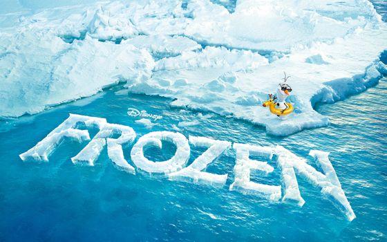 Фото бесплатно Холодное сердце, Олаф, айсберг