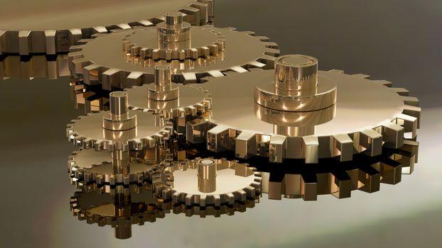 Бесплатные фото шестерни,шестерёнки,механизм,3d,отражение,art