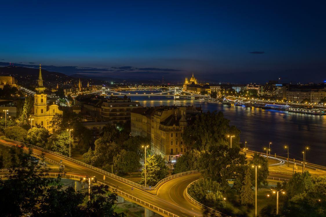 Фото бесплатно ночь, ночной город серия, Будапешт - на рабочий стол