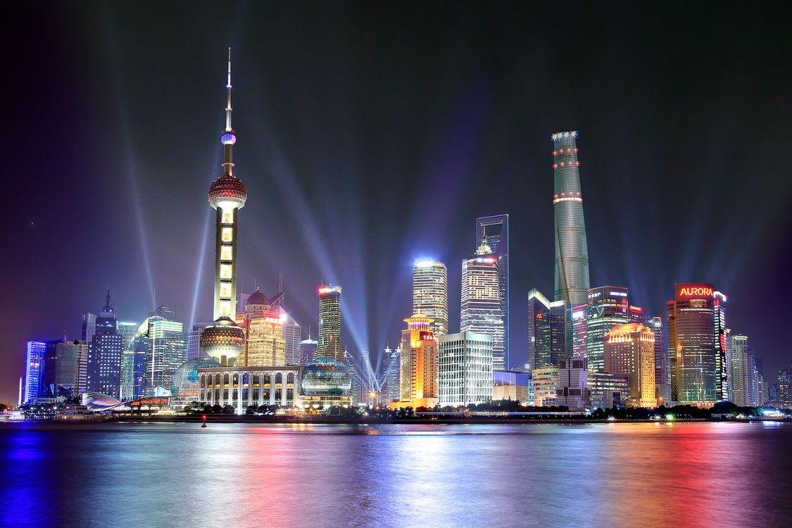 Фото бесплатно Китай, освещение, Pearl Tower - на рабочий стол
