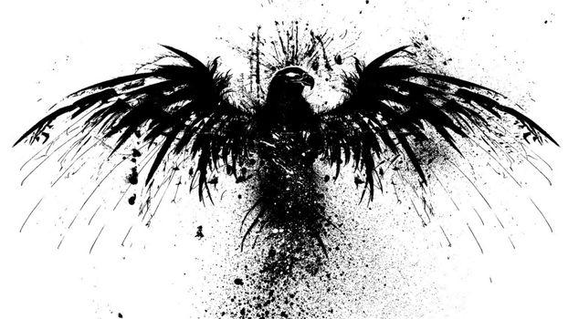 Фото бесплатно рисунок, птица, черный силуэт