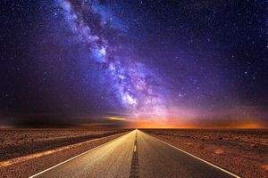 Бесплатные фото дороги,шоссе,дорога,млечный путь,небо,звезда,путешествия