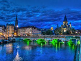 Бесплатные фото Metz,France,Мец,Франция,Лотарингия,река,Мозель