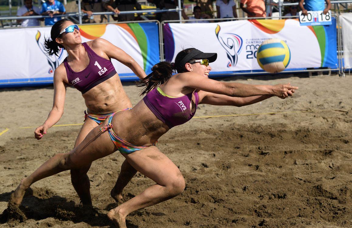Фото бесплатно волейбол, пляжный, Пляжный волейбол - на рабочий стол