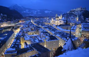 Заставки Зальцбург, Австрия, снег
