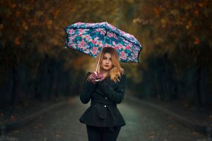 Photo free girl with umbrella, sexy girl, beauty