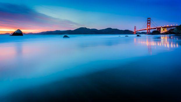Фото бесплатно мост Золотые Ворота, Сан-Франциско, Калифорния
