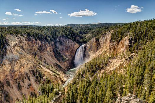 Фото бесплатно Lower Yellowstone River Falls, Yellowstone National Park, Wyoming