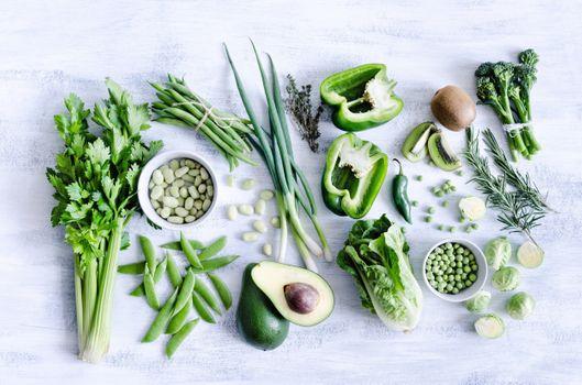 Фото бесплатно капуста, горох, овощи