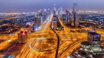Фото бесплатно зданий, Dubai, дорога
