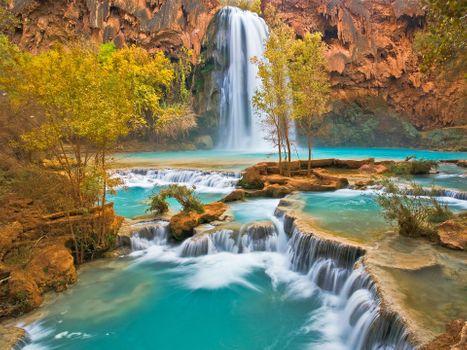 Photo free Havasu Falls in Havasu Canyon, Arizona, fall
