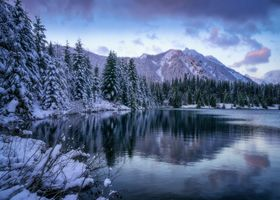 Photo free Washington, Gold Creek Pond, winter