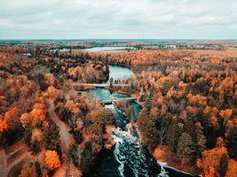 Фото бесплатно Северный Висконсин, США, осень река