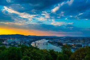 Бесплатные фото Будапешт,Венгрия,Budapest,город,закат,небо,дома