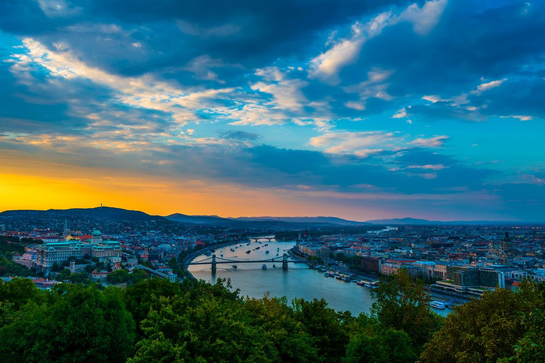 Фото бесплатно Будапешт, город, мосты - на рабочий стол