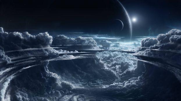 Фото бесплатно вакуум, Вселенная, планеты