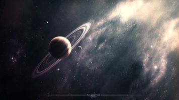 Заставки туманность, планеты, кольца