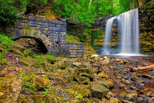 Photo free Halton Hills, Canada, waterfall