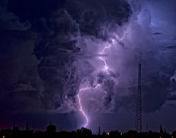 Фото бесплатно пейзаж, плохая погода, молния