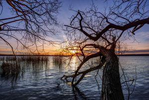 Фото бесплатно волны, озеро, пейзаж