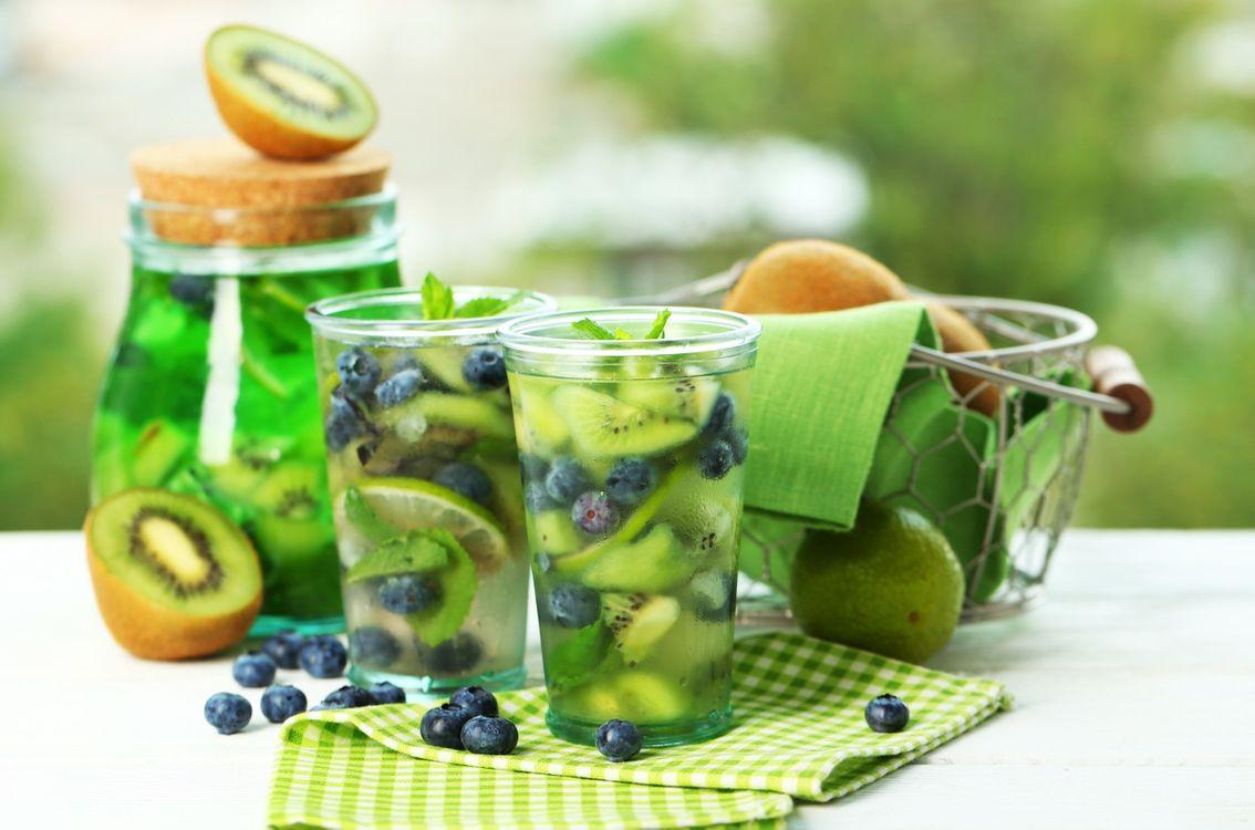 Обои киви, напитки, фрукты картинки на телефон
