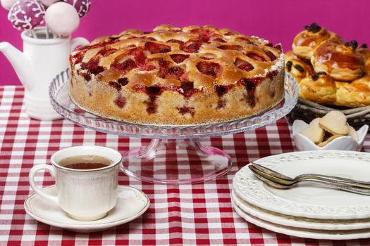 Фото бесплатно пирог, выпечка, чай