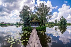 Фото бесплатно Украина, деревня, Озеро