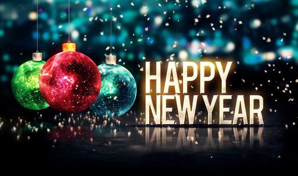 Бесплатные фото Happy New Year,новый год,поздравления,2019,новогоднее настроение,игрушки,шарики,надпись