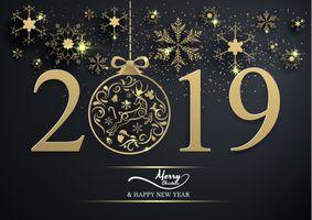 Фото бесплатно новогодняя дата, 2019, Happy New Year