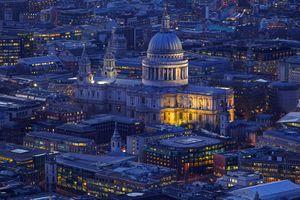 Бесплатные фото Собор Святого Павла,Лондон,Англия,ночь,ночной город
